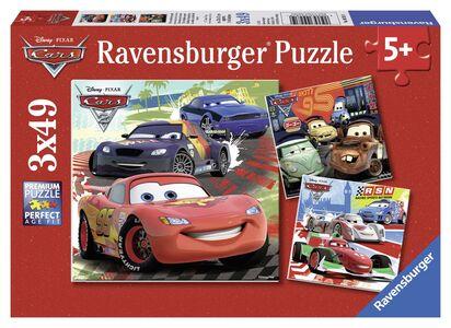 Foto di Puzzle 3x49 Cars 2 giro mondo, Giochi e giocattoli 0