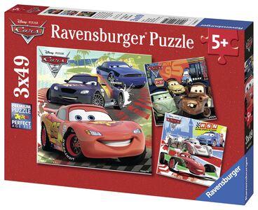 Foto di Puzzle 3x49 Cars 2 giro mondo, Giochi e giocattoli 1