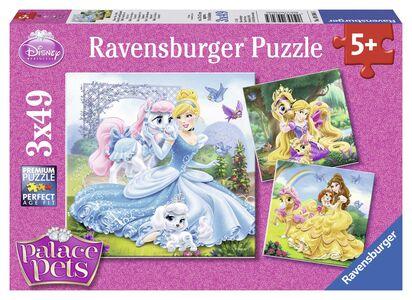 Giocattolo Puzzle 3x49 pezzi Belle, Cenerentola e Rapunzel Ravensburger