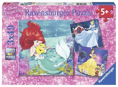 Principesse Disney Le Avventure delle Principesse. Puzzle 3x49 Pezzi