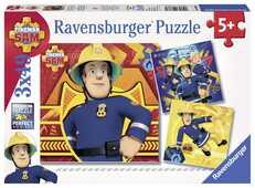 Giocattolo Puzzle 3x49 pezzi Sam il pompiere Ravensburger