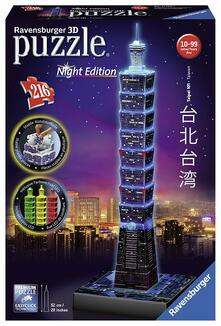 Ravensburger. 11149 7. 3D Puzzle Serie Speciali. Taipei Night Edition