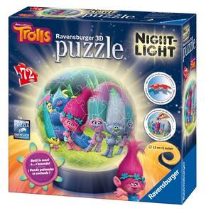 Trolls: Lampada notturna. Puzzle 72 Pezzi 3D