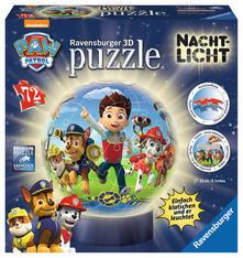 72 Teile 3D Puzzle-Ball / Nachtlicht. PAW: Paw Patrol. Ravensburger 00.011.842 puzzle 3D