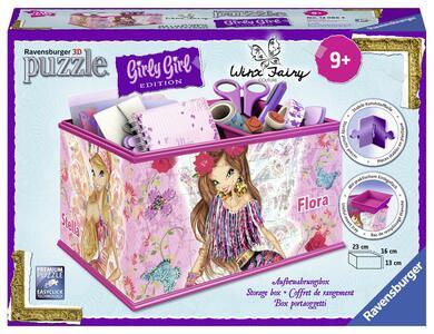 Ravensburger 12086. Girly Girl. Winx Club. Puzzle Portaoggetti 216 Pz