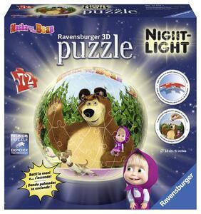 Masha e Orso Puzzle 3D Lampada Notturna Ravensburger (12179)