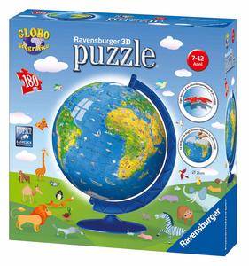 Giocattolo Mappamondo infantile 180 pezzi. 3D Globo Ravensburger 0