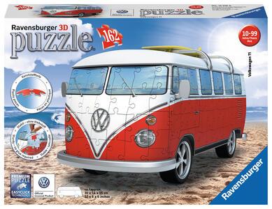 Pulmino Volkswagen. Puzzle 162 Pezzi 3D - 7