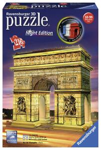 Arco di Trionfo Puzzle 3D Building Night Edition Ravensburger (12522)