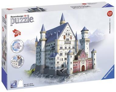 Castello di Neuschwanstein. Puzzle 3D 216 Pezzi - 3