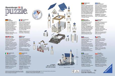 Castello di Neuschwanstein. Puzzle 3D 216 Pezzi - 6