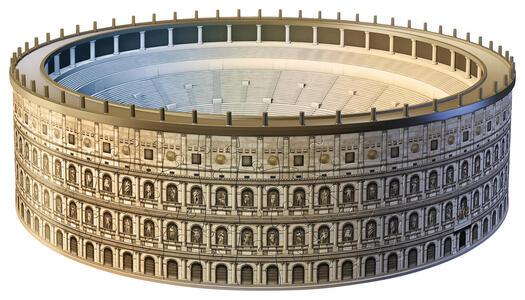 Colosseo. Puzzle 3D 216 Pezzi - 33
