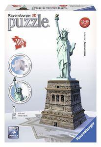 Giocattolo Puzzle 3D 108 pezzi Statua della Libertà Ravensburger 0