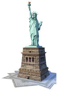Giocattolo Puzzle 3D 108 pezzi Statua della Libertà Ravensburger 2