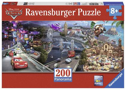 Cars Panorama Puzzle 200 pezzi Ravensburger (12645) - 2