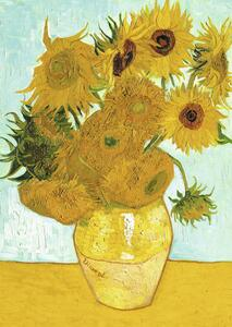 Van Gogh: Vaso di girasoli Puzzle 1000 pezzi Ravensburger (15805) - 4