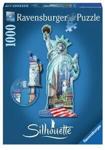 Puzzle Silhouette Statua della Libertà, New York