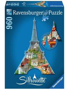 Giocattolo Puzzle Silhouette Tour Eiffel, Parigi Ravensburger 0