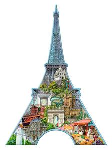Giocattolo Puzzle Silhouette Tour Eiffel, Parigi Ravensburger 2