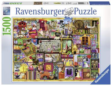 Colin Thompson: Scaffale da bricolage Puzzle 1500 pezzi Ravensburger (16312) - 2