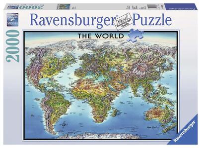 World Map Puzzle 2000 pezzi Ravensburger (16683)