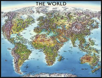 World Map Puzzle 2000 pezzi Ravensburger (16683) - 3