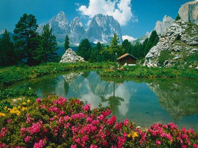 Giocattolo Puzzle 3000 pezzi Dolomiti Passo Sella Ravensburger 1