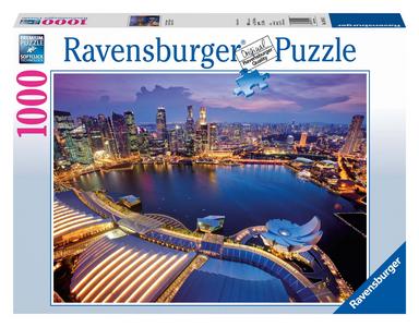 Giocattolo Puzzle 1000 pezzi Skyline di Singapore Ravensburger 0