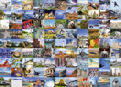 99 Beautiful Places USA/Canada Puzzle 1000 pezzi Ravensburger (19709) - 5