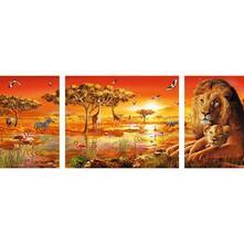 Puzzle da 1000 Pezzi: Trittico. Paesaggio Africano