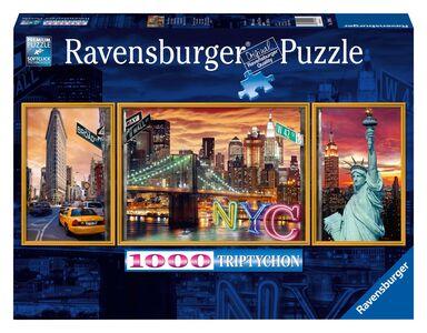 Giocattolo Puzzle Trittico Sparkling New York Ravensburger 0