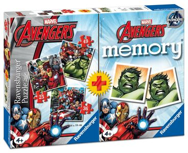 Giocattolo Multipack memory + 3 puzzle Avengers Ravensburger