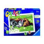 CreArt serie E. Cane e gatto dolce sonno