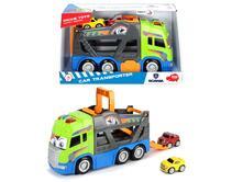 Dickie Toys. Happy Scania Car Transporter 42 Cm Con Luci E Suoni E 2 Mini Squeezies