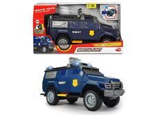 Dickie Action Series Special Unit SWAT cm 33 con luci e suoni, motorizzato, parti apribili, radar che ruota davvero, try me
