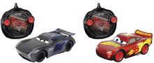 Dickie Toys. Rc Cars 3 Twin Pack Saetta Mc Queen E Jackson Storm 1:24