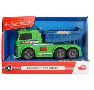 Dickie Toys. Action Series. Camion Nettezza Urbana con Luci 15 Cm