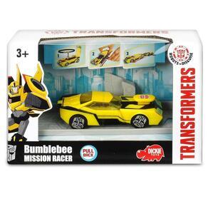Transformers. Mission Racer con Bracciale Elastico Collezionabile e Lanciatore 11 Cm Bumblebee - 2