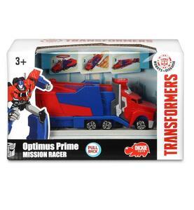Transformers. Mission Racer con Bracciale Elastico Collezionabile e Lanciatore 16 Cm Optimus Prime