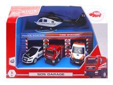 Dickie Toys. Garage Sos  Con 4 Veicoli Cm. 14-24