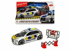 Dickie SOS Audi RS3 Police, cm. 15, scala 1:32, luci e suoni, try me