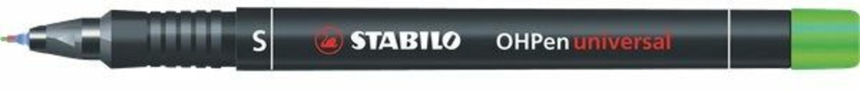 Pennarello STABILO OHPen Universal punta superfine 0,4 mm. Inchiostro permanente. Verde