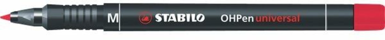 Pennarello STABILO OHPen Universal punta media 1 mm. Inchiostro permanente. Rosso