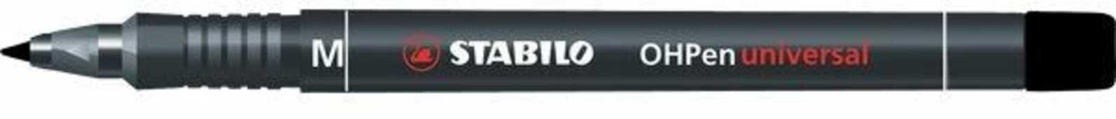 Cartoleria Pennarello STABILO OHPen Universal punta media 1 mm. Inchiostro permanente. Nero Stabilo