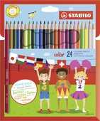 Cartoleria Pastelli Stabilo Color. Astuccio in cartone con 24 matite colorate (con FLUO) Stabilo