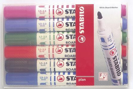 Pennarello Marker per lavagna bianca STABILO Plan