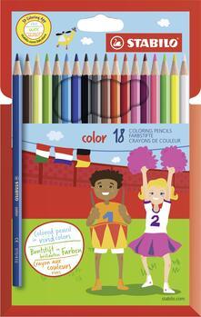 Pastelli STABILO Color. Confezione in cartone 18 matite colorate (con FLUO)