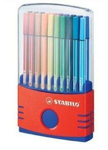 Pennarelli STABILO Pen 68. Scatola 20 colori assortiti