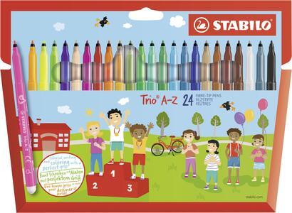 Pastelli STABILO Trio A-Z. Scatola in cartone 24 matite colorate assortite