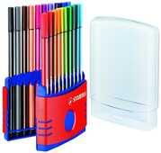 Cartoleria Pennarello Stabilo Pen 68. ColorParade rosso con 20 colori assortiti Stabilo